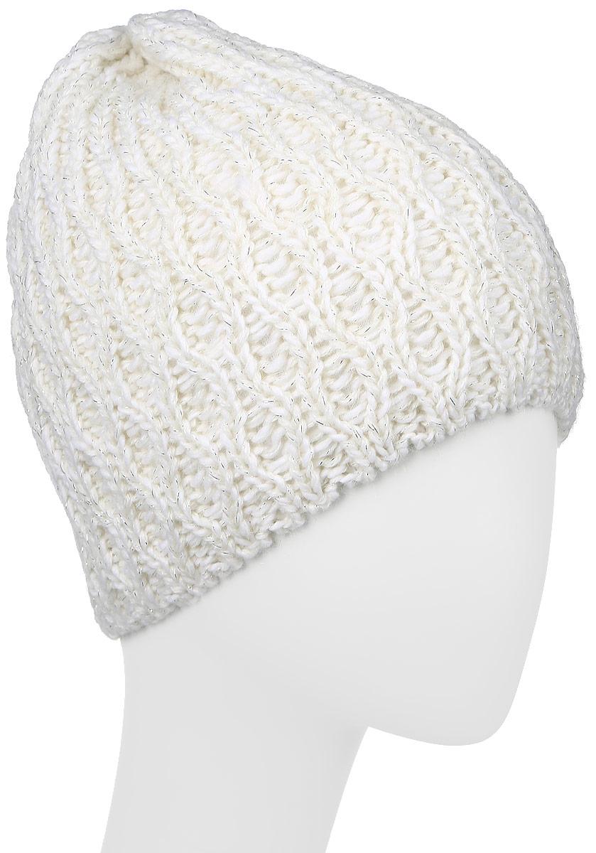 MWH6292/2Теплая шапка Marhatter выполнена из высококачественного акрила и теплой шерсти. Подкладка выполнена из мягкого флиса. Удлиненная двойная шапка оформлена крупной вязкой и дополнена блестящим люрексом. Уважаемые клиенты! Размер, доступный для заказа, является обхватом головы.