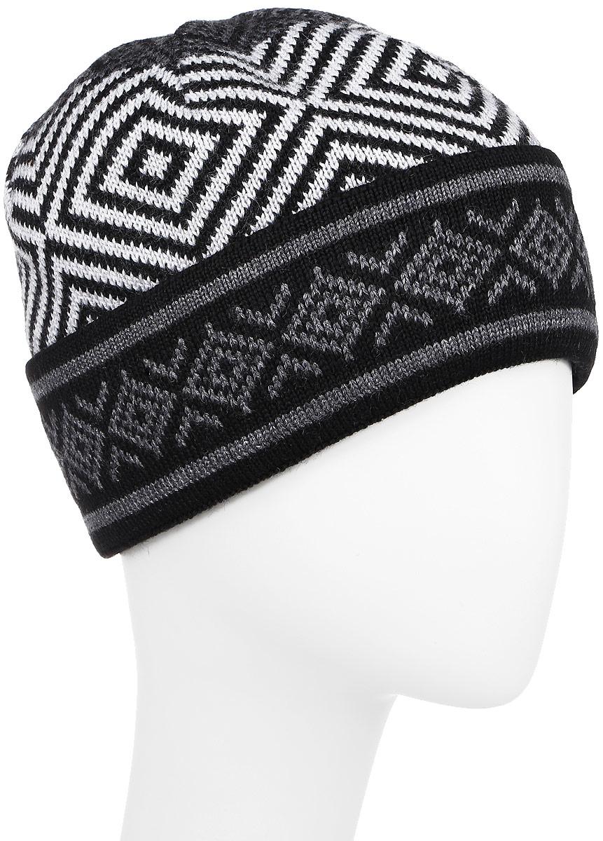 ШапкаW16-22120_101Классическая мужская шапка с отворотом Finn Flare отлично дополнит ваш образ в холодную погоду. Изготовленная из акрила и шерсти, она необычайно мягкая и приятная на ощупь. Внутри - флисовая подкладка. Модель оформлена интересным орнаментом и металлической пластиной с названием бренда. Уважаемые клиенты! Размер, доступный для заказа, является обхватом головы.