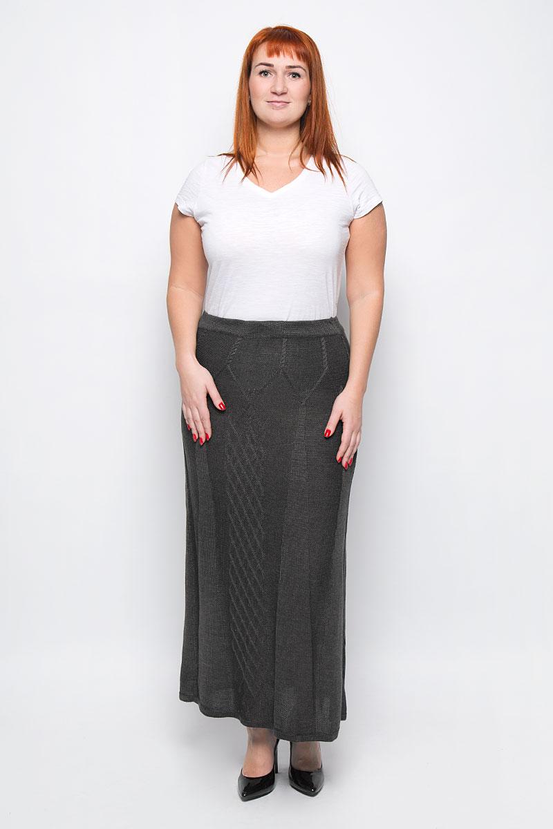 1349Стильная вязаная юбка от Milana Style, выполненная из качественной пряжи, отлично дополнит ваш образ. Модель макси-длины связана оригинальным узором и на талии имеет широкую эластичную резинку.