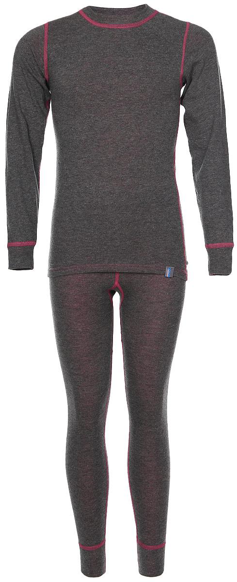 Термобелье комплект (брюки и кофта)002ДНКомплект термобелья для девочки Oldos Active Warm состоит из футболки с длинным рукавом и леггинсов. Комплект изготовлен из двухслойного полотна, представляющий собой цельно вязаную ткань с различным составом нитей на лицевой и изнаночной сторонах. Синтетический слой внутри быстро и эффективно отводит влагу, а хлопок и шерсть снаружи сохраняют тепло. Плоские швы изделия не вызывают раздражений. Изнаночная сторона контрастного цвета. Футболка с длинными рукавами и круглым вырезом горловины имеет удлиненную спинку. На рукавах предусмотрены манжеты. Эластичный пояс на леггинсах обеспечивает комфортную посадку изделия на фигуре. Брючины дополнены широкими манжетами. Комплект оформлен контрастной прострочкой. Двухслойное термобелье снижает теплопотери организма в холодную погоду, добавляет ощущение комфорта, защищает организм от перегрева во время физических нагрузок. Термобелье может применяться при активном отдыхе, а также при повседневной носке. Рекомендуемый температурный...