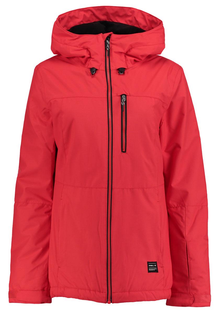 Куртка655032-3082Женская куртка для сноуборда ONeill выполнена из полиэстера. Модель с длинными рукавами и несъемным капюшоном застегивается на застежку-молнию. Изделие имеет спереди три врезных кармана. Рукава дополнены хлястиками на липучках, которые позволяют регулировать обхват манжет. По бокам куртки, от линии талии до середины рукавов, расположены вентиляционные отверстия. Объем капюшона регулируется при помощи шнурка со стопперами.