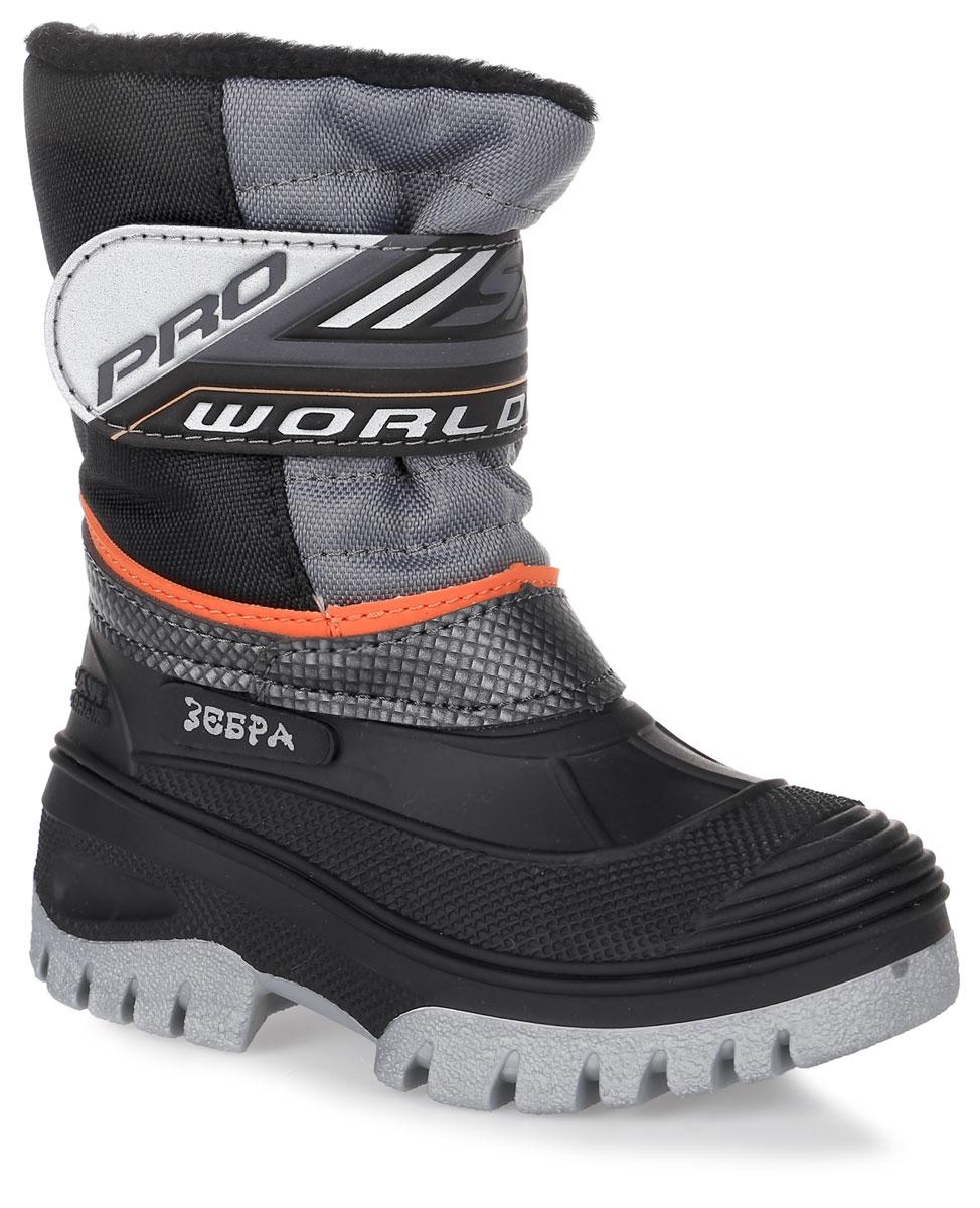 11232-5Теплые дутики Зебра выполнены из высококачественного текстиля и ПВХ, не пропускающего воду. Модель оформлена нашивками и декоративной прострочкой. Хлястик с застежкой-липучкой позволит отрегулировать объем голенища и надежно зафиксирует обувь на ноге. Подкладка и стелька из натуральной шерсти обеспечат тепло и комфорт. Подошва изготовлена из гибкого и прочного ПВХ и оснащена протектором, который гарантирует отличное сцепление с любой поверхностью.