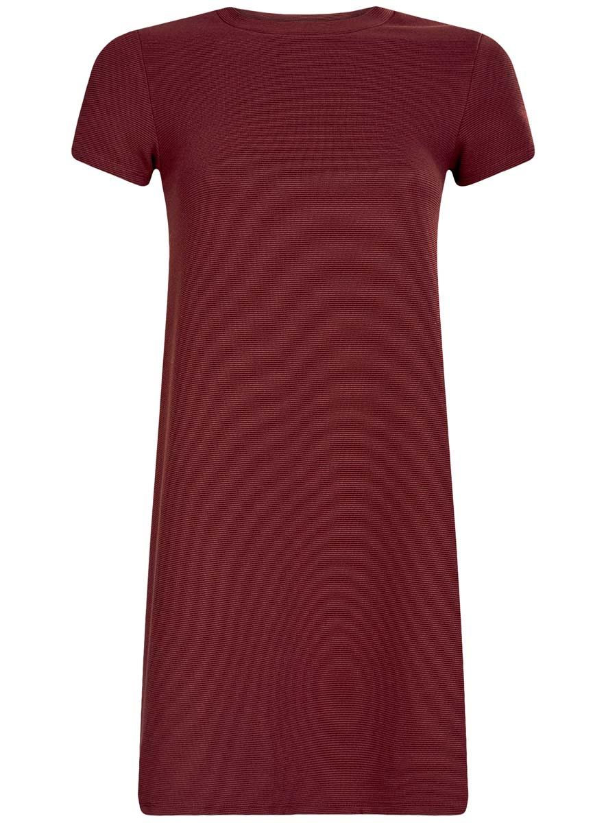 14000157/45997/2900NЖенское трикотажное платье oodji Ultra имеет короткие рукава и круглый вырез воротника. Плотно садится по фигуре.