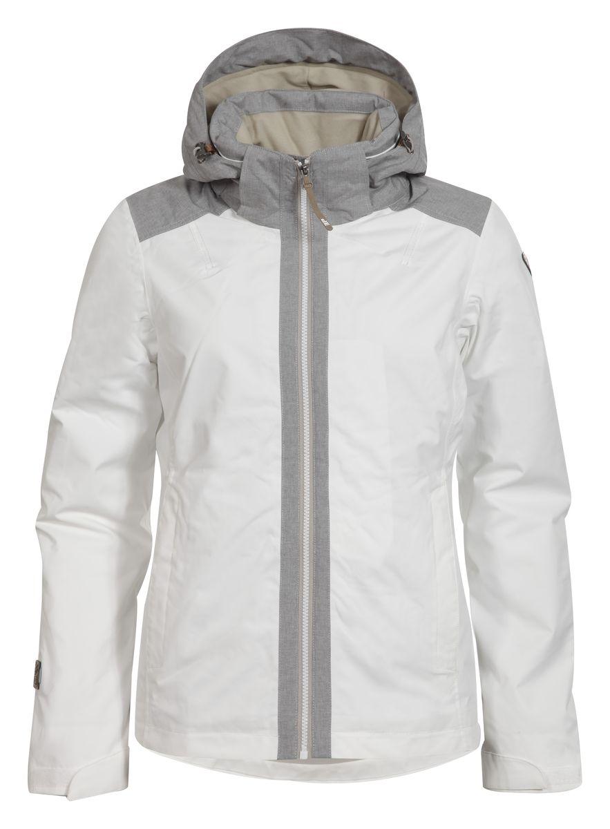 653029553IVЖенская куртка Icepeak Telma выполнена из непромокаемой и непродуваемой ткани. Куртка с воротником-стойкой и съемным капюшоном на застежке-молнии, липучках и кнопках застегивается на удобную застежку-молнию спереди. Капюшон дополнен шнурком-кулиской со стопперами. Рукава оснащены хлястиками на липучках. Спереди расположены два втачных кармана на застежках-молниях, изнутри - втачной карман на застежке-молнии. Швы проклеены.