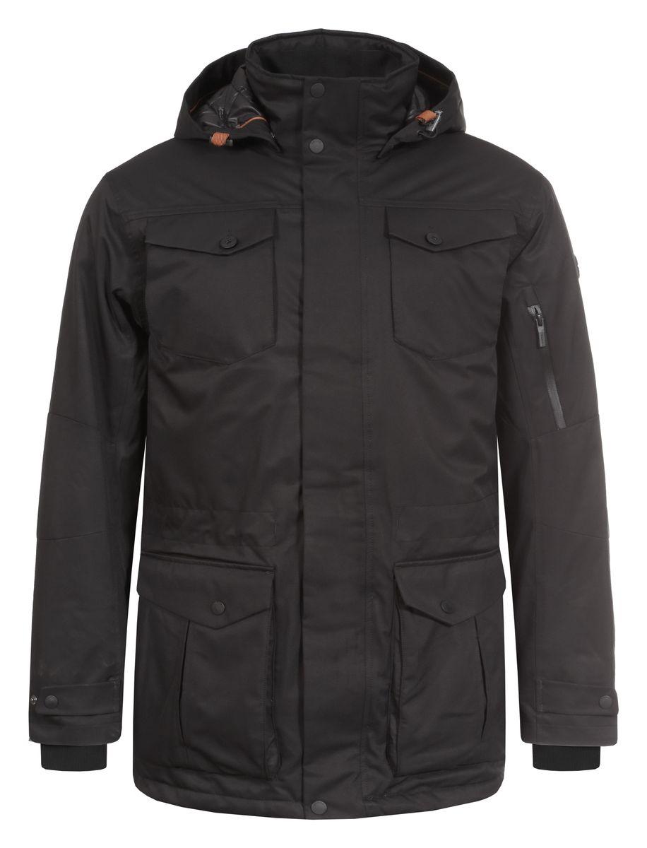 Куртка636562838LVМужская куртка Luhta Paavo с длинными рукавами и съемным капюшоном на кнопках выполнена из полиэстера. Наполнитель - синтепон. Куртка застегивается на застежку-молнию спереди и имеет ветрозащитный клапан на кнопках. Изделие оснащено двумя накладными карманами с клапанами на кнопках, двумя втачными карманами на застежках-молниях, втачным карманом с клапаном на пуговице спереди, внутренним накладным карманом на пуговице и втачным карманом на молнии, а также небольшим втачным карманом на застежке-молнии. Рукава дополнены внутренними трикотажными манжетами. Объем капюшона регулируется при помощи шнурка-кулиски. Низ и талия изделия также оснащены шнурками-кулисками.