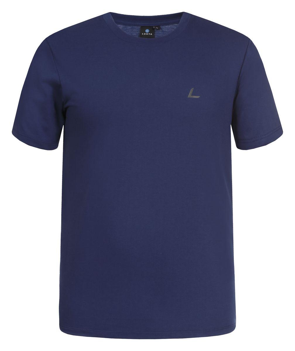 636548689LVМужская футболка Luhta Okko выполнена из полиэстера с хлопком. Модель с круглым вырезом горловины и короткими рукавами.