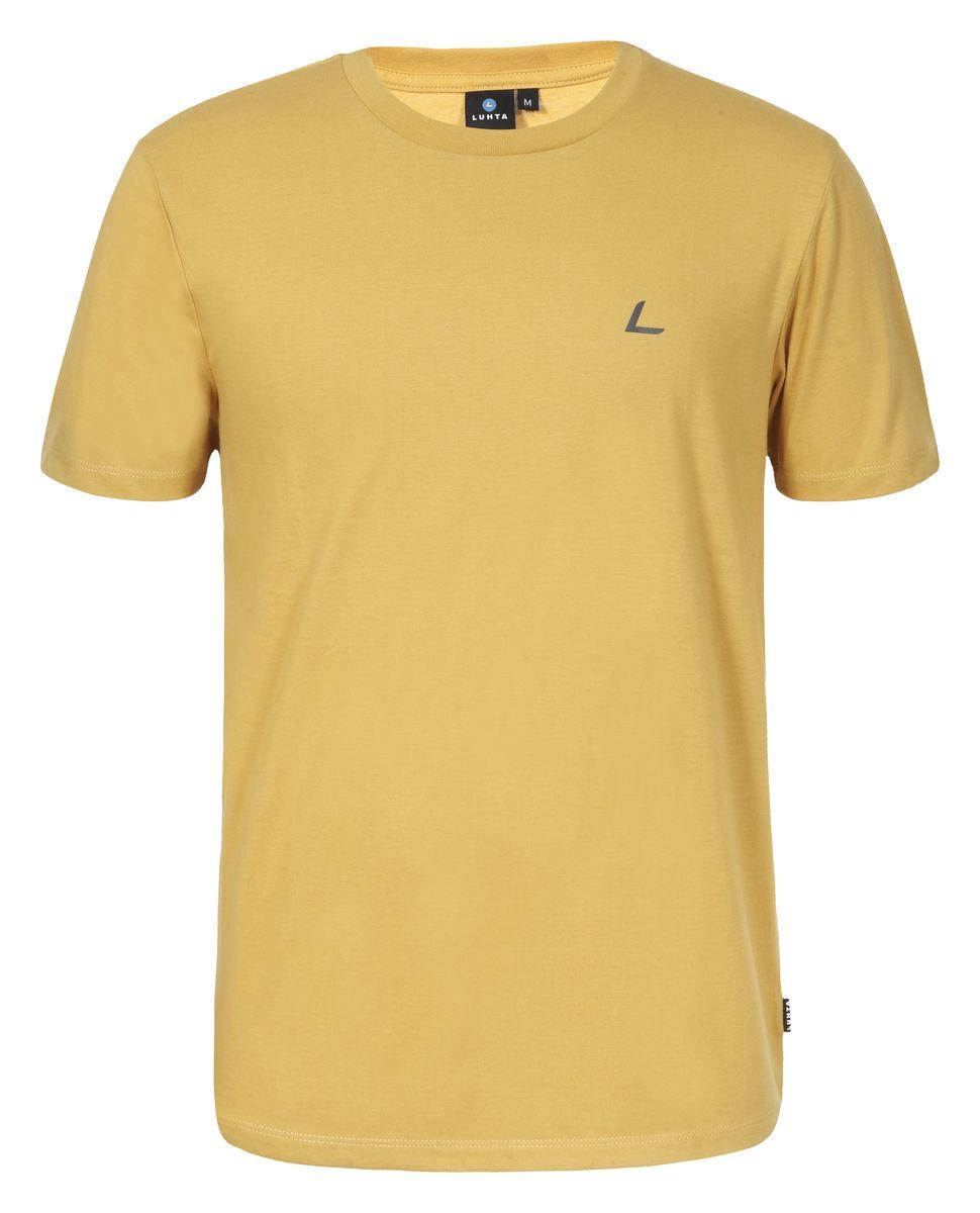 Футболка636548689LVМужская футболка Luhta Okko выполнена из полиэстера с хлопком. Модель с круглым вырезом горловины и короткими рукавами.