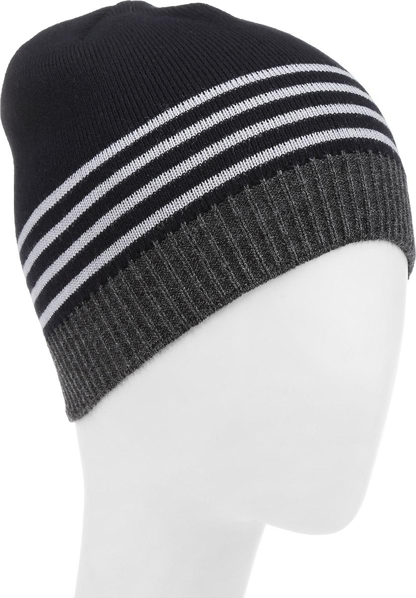 М008-22-1Стильная шапка для мальчика Concept выполнена из шерсти и акрила, она обладает хорошими дышащими свойствами и отлично удерживает тепло. Изделие великолепно тянется и удобно сидит. Шапка украшена принтом в полоску. Уважаемые клиенты! Размер, доступный для заказа, является обхватом головы.