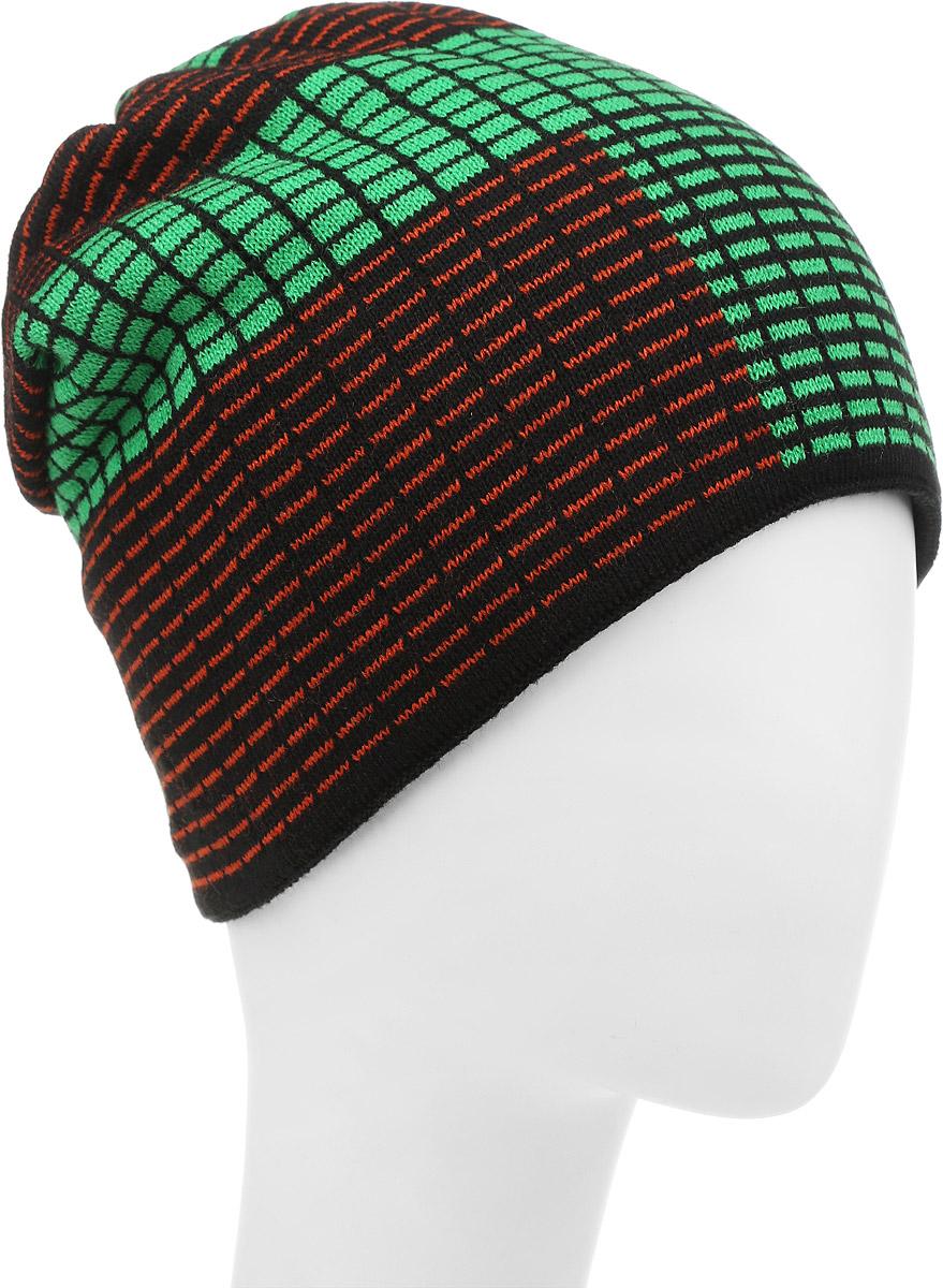 Шапка детскаяТетрис-22-1Стильная шапка для мальчика Concept выполнена из шерсти и акрила, она обладает хорошими дышащими свойствами и отлично удерживает тепло. Изделие великолепно тянется и удобно сидит. Внутри - флисовая подкладка. Шапка украшена интересным принтом и дополнена нашивкой с логотипом бренда. Уважаемые клиенты! Размер, доступный для заказа, является обхватом головы.