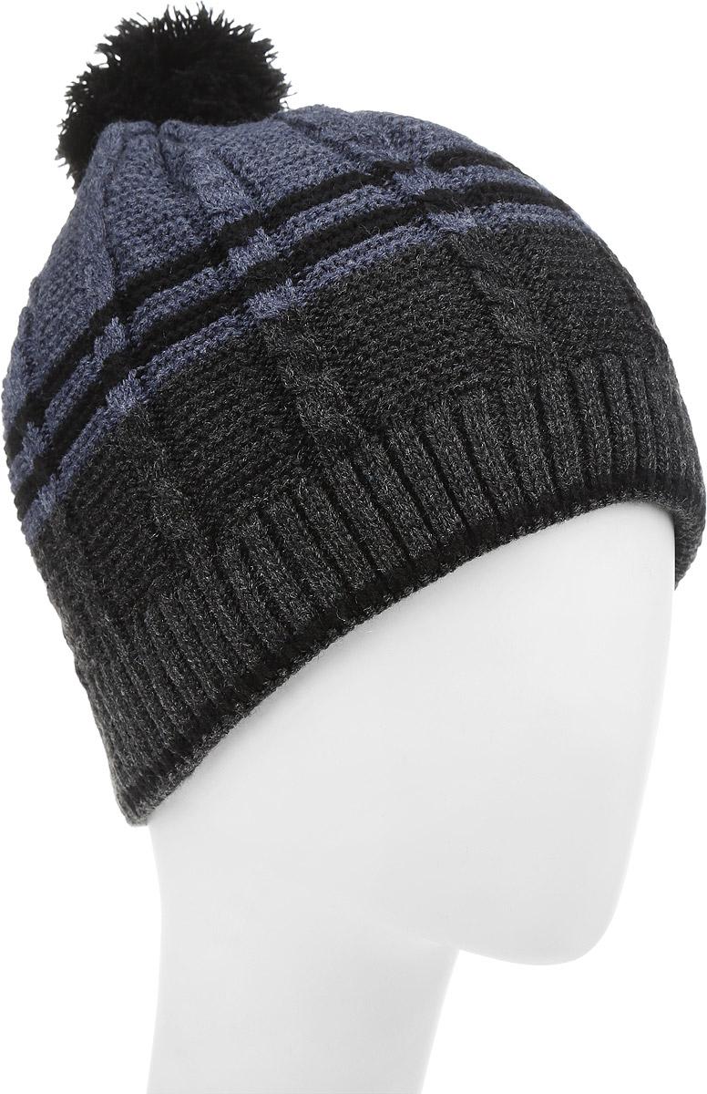 Маэстро-22-1Теплая шапка для мальчика Concept выполнена из высококачественного акрила и шерсти. Подкладка выполнена из мягкого полиэстера. Шапка оформлена крупной вязкой с узорами и на макушке дополнена пушистым помпоном. Уважаемые клиенты! Размер, доступный для заказа, является обхватом головы.