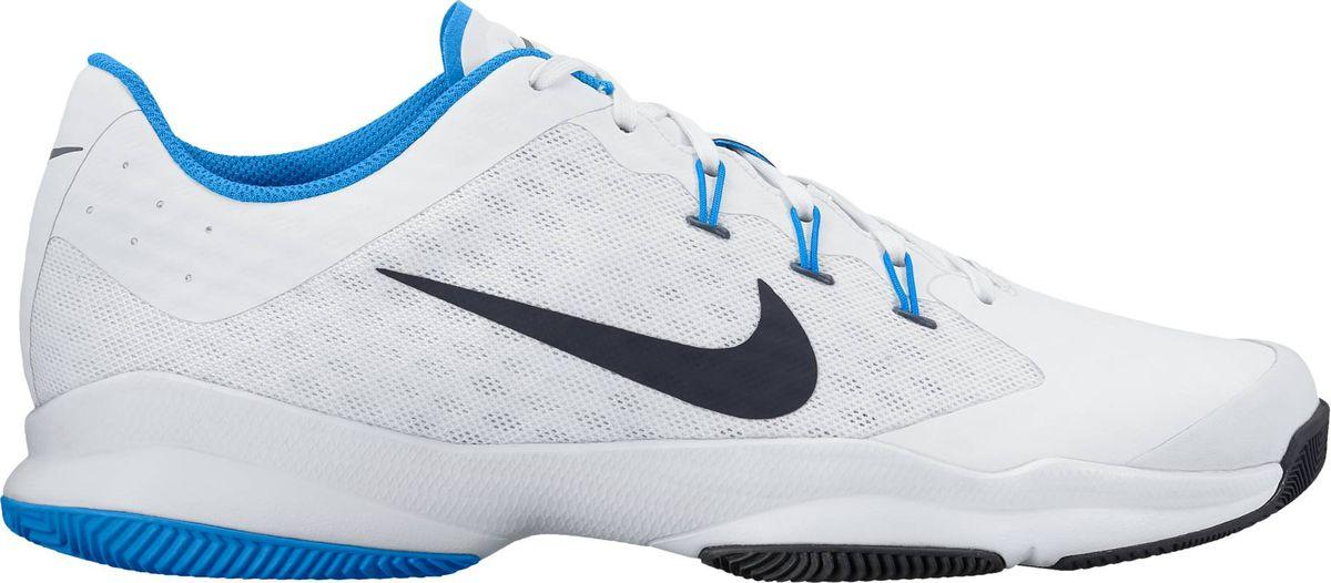Кроссовки845007-140Мужские кроссовки для тенниса Air Zoom Ultra от Nike подходят для игры в зале и на кортах с любым покрытием. Модель выполнена из многослойного сетчатого материала и дополнена накладками из синтетической кожи на передней части стопы. Нити Flywire создают динамическую фиксацию. Подкладка и стелька из текстиля комфортны при движении. Шнуровка надежно зафиксирует модель на ноге. Вставки Zoom Air в передней части стопы обеспечивают оптимальную амортизацию. Подметка из износостойкой резины для надежного сцепления с поверхностью и исключительной прочности.