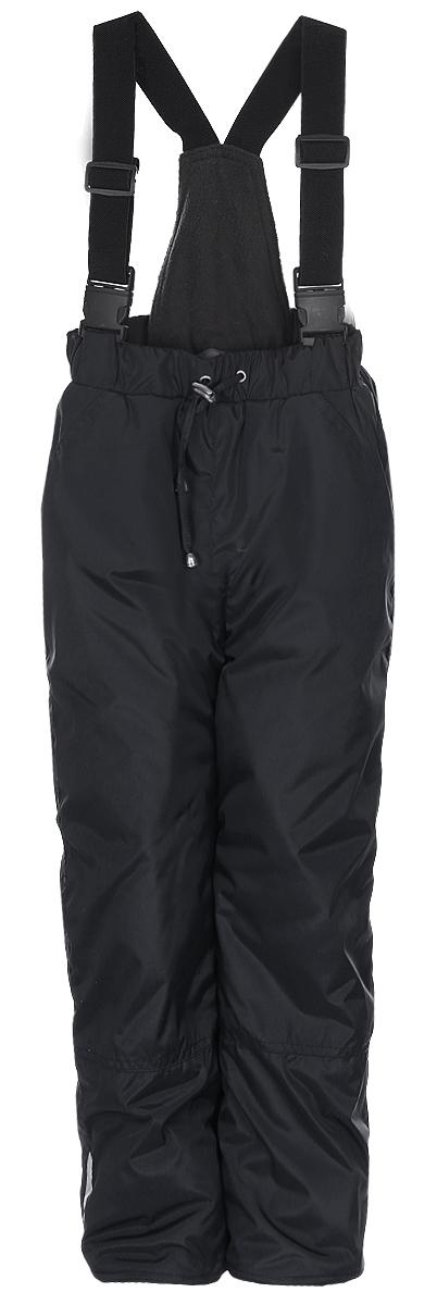 Брюки утепленныеБС121П-20Утепленные детские брюки M&D выполнены из полиэстера и утеплены синтепоном. Изделие дополнено несъемными эластичными наплечными лямками с фастексами, регулируемыми по длине. На талии полукомбинезона предусмотрена широкая эластичная резинка, объем регулируется при помощи шнурка-кулиски со стоппером. Спереди расположены два втачных кармана. Брючины дополнены противоснежными внутренними манжетами, а также дополнены светоотражающими полосками.
