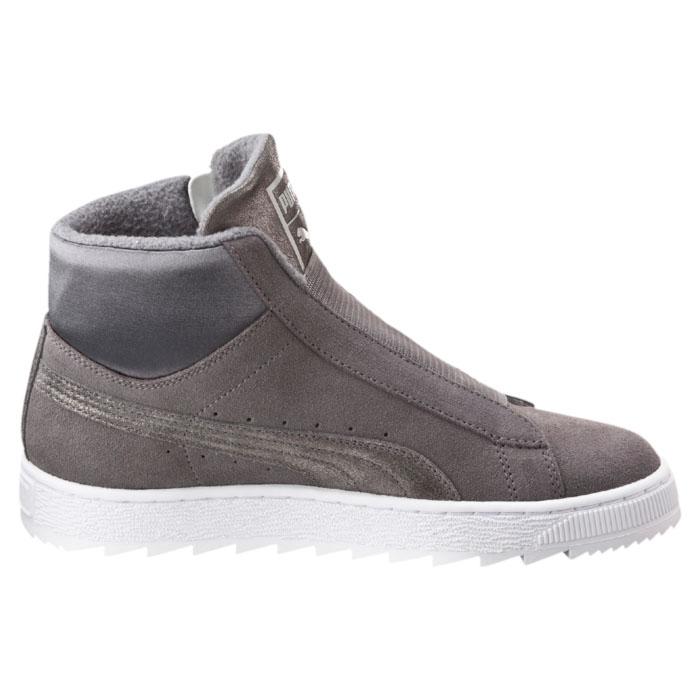 Ботинки36115701Модные ботинки Suede Mid Winter Elem от Puma выполнены из натуральной замши. Мягкая подкладка из флиса и стелька из текстиля обеспечат комфорт. Застегивается модель на боковую застежку-молнию. Подъем модели оснащен эластичной резинкой. Подошва дополнена рифлением.