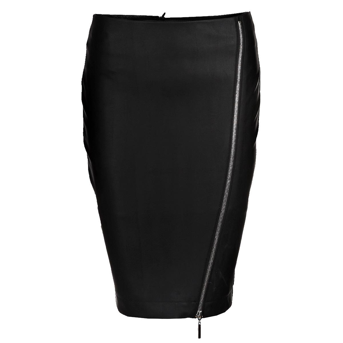 ЮбкаSSD0784CAСтильная юбка Top Secret изготовлена из плотного материала, имитирующего кожу. Юбка-карандаш длины миди подчеркнет все достоинства вашей фигуры. Модель оформлена ассиметричной металлической молнией. Сзади юбка застегивается на потайную молнию. Эта модная юбка - отличный вариант на каждый день.