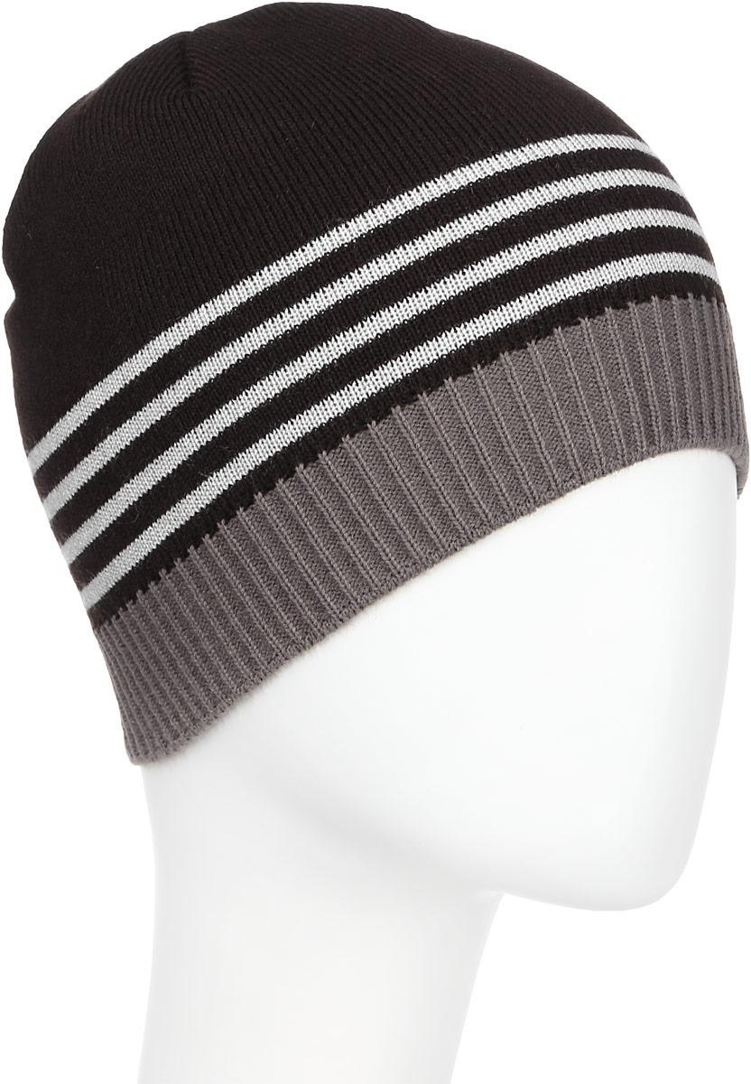 Шапка детскаяМ008-22-1Стильная шапка для мальчика Concept выполнена из шерсти и акрила, она обладает хорошими дышащими свойствами и отлично удерживает тепло. Изделие великолепно тянется и удобно сидит. Шапка украшена принтом в полоску. Уважаемые клиенты! Размер, доступный для заказа, является обхватом головы.