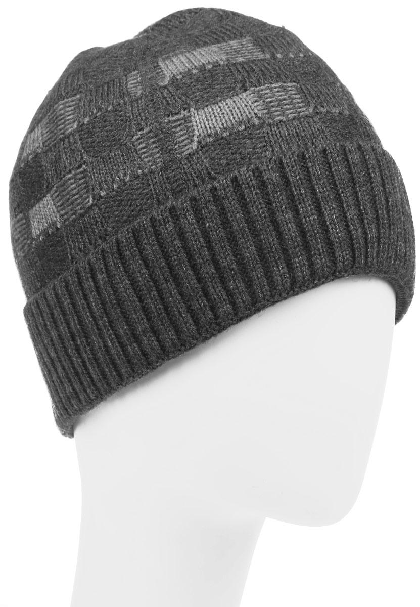 Шапка детскаяАрмия-22-1Стильная шапка для мальчика Concept идеально подойдет для прогулок в прохладное время года. Изготовленная из шерсти и акрила, она обладает хорошими дышащими свойствами и хорошо удерживает тепло. Шапка декорирована небольшой текстильной нашивкой и дополнена отворотом. Уважаемые клиенты! Размер, доступный для заказа, является обхватом головы ребенка.