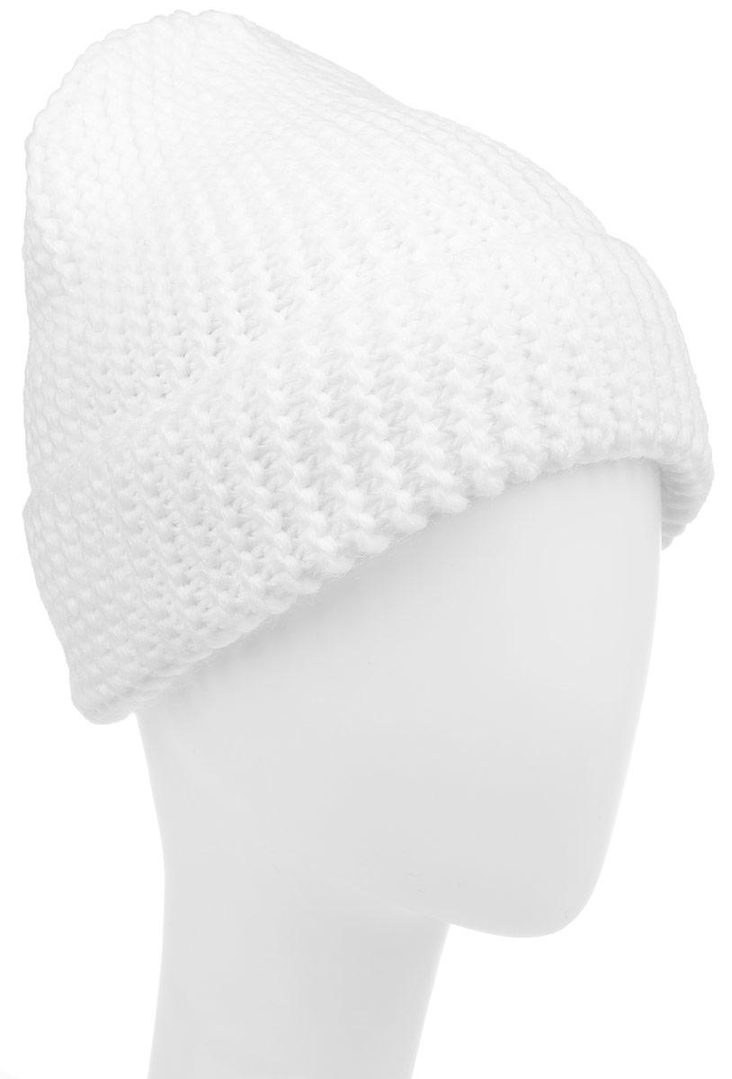 Шапка детскаяК064-22-1Стильная вязаная шапка для девочки Concept идеально подойдет для прогулок в прохладное время года. Изготовленная из акрила и хлопка, она обладает хорошими дышащими свойствами и хорошо удерживает тепло. Шапка декорирована металлической нашивкой с логотипом бренда, дополнена отворотом. Уважаемые клиенты! Размер, доступный для заказа, является обхватом головы ребенка.