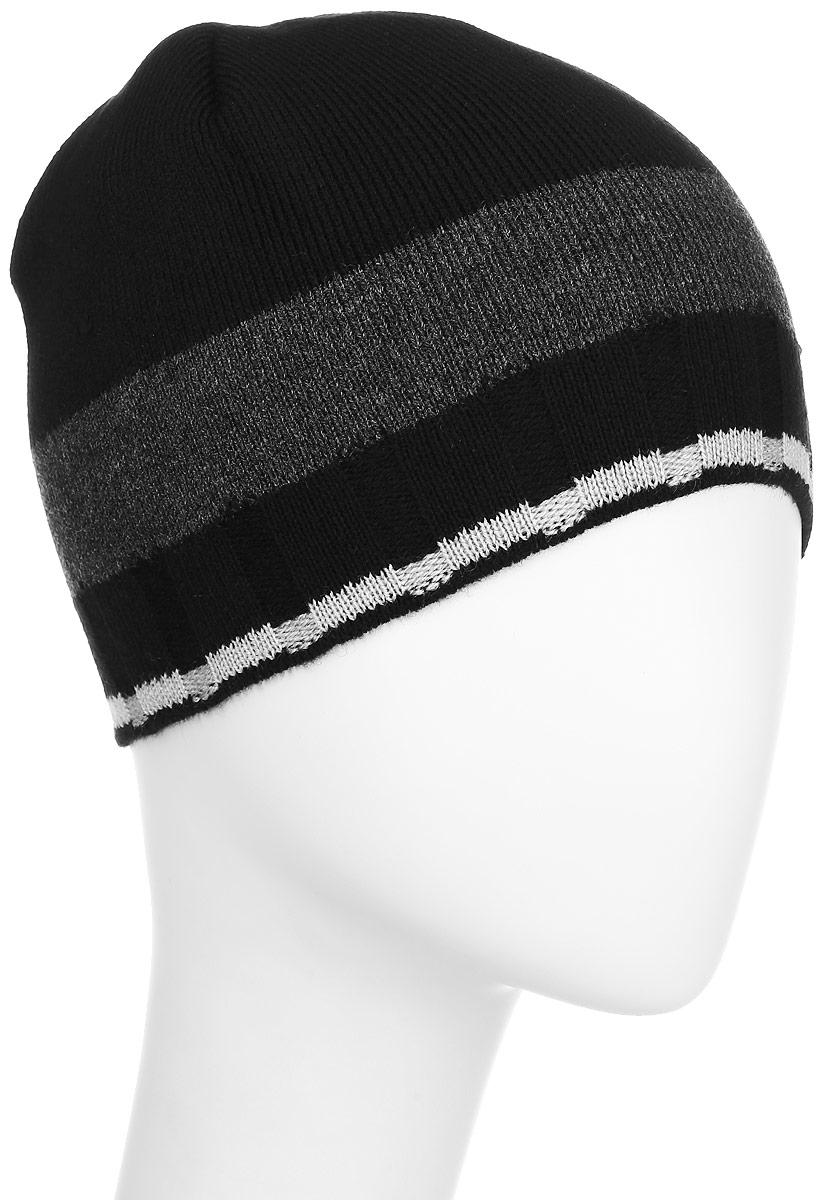 Шапка детскаяМ006-22-1Стильная шапка для мальчика Concept идеально подойдет для прогулок в прохладное время года. Изготовленная из акрила и шерсти, она обладает хорошими дышащими свойствами и хорошо удерживает тепло. Шапка декорирована небольшой нашивкой с названием бренда. Оформлена модель интересным принтом в полоску. Уважаемые клиенты! Размер, доступный для заказа, является обхватом головы ребенка.