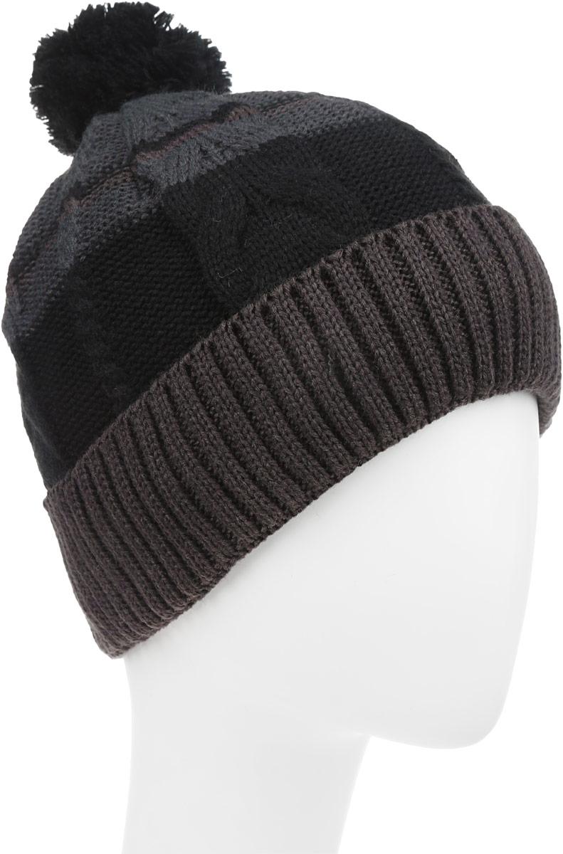 Шапка детскаяТвид-22-1Теплая шапка для мальчика Concept выполнена из высококачественного акрила и шерсти. Подкладка выполнена из мягкого полиэстера. Шапка с отворотом оформлена вязкой с узорами и на макушке дополнена пушистым помпоном. Уважаемые клиенты! Размер, доступный для заказа, является обхватом головы.