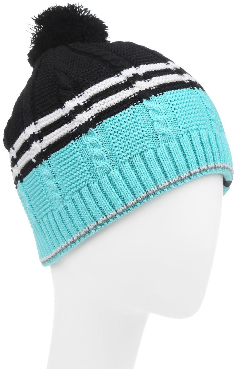 Шапка детскаяМаэстро-22-1Теплая шапка для мальчика Concept выполнена из высококачественного акрила и шерсти. Подкладка выполнена из мягкого полиэстера. Шапка оформлена крупной вязкой с узорами и на макушке дополнена пушистым помпоном. Уважаемые клиенты! Размер, доступный для заказа, является обхватом головы.