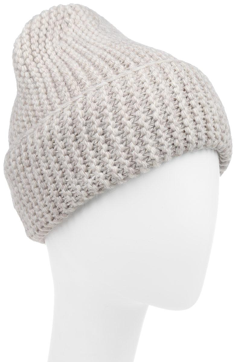 К064-22-1Стильная вязаная шапка для девочки Concept идеально подойдет для прогулок в прохладное время года. Изготовленная из акрила и хлопка, она обладает хорошими дышащими свойствами и хорошо удерживает тепло. Шапка декорирована металлической нашивкой с логотипом бренда, дополнена отворотом. Уважаемые клиенты! Размер, доступный для заказа, является обхватом головы ребенка.