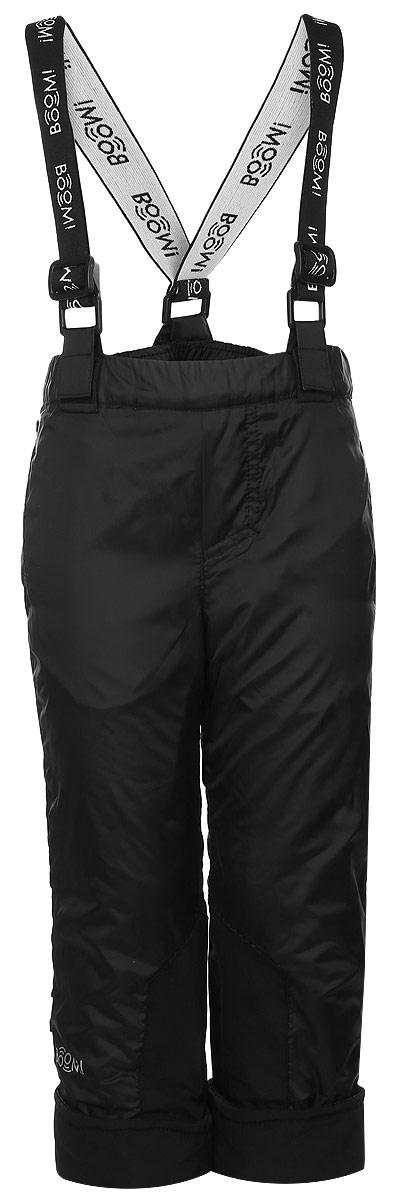 64065_BOB_вар.1Утепленные брюки Boom! идеально подойдут вашему мальчику в прохладное время года. Брюки, изготовленные из 100% полиэстера на флисовой подкладке, приятные на ощупь, не сковывают движений и обеспечивают наибольший комфорт. Брюки прямого кроя по бокам оснащены двумя прорезными карманами, сзади - накладным открытым карманом. Низ штанин подгибается. Брюки на талии имеют широкий эластичный пояс, регулируемый с помощью скрытой резинки на пуговице. Нижняя часть штанин дополнена накладками из плотной ткани, которые предотвращают истирание штанин при ходьбе. Светоотражающие нашивки не оставят вашего ребенка незамеченным в темное время суток. До 122 размера брюки имеют эластичный пояс без застежек и оснащены съемными эластичными лямками, регулируемыми по длине. После 122 размера брюки застегиваются на кнопку в поясе и ширинку на застежке-молнии. Лямки в комплект не входят.