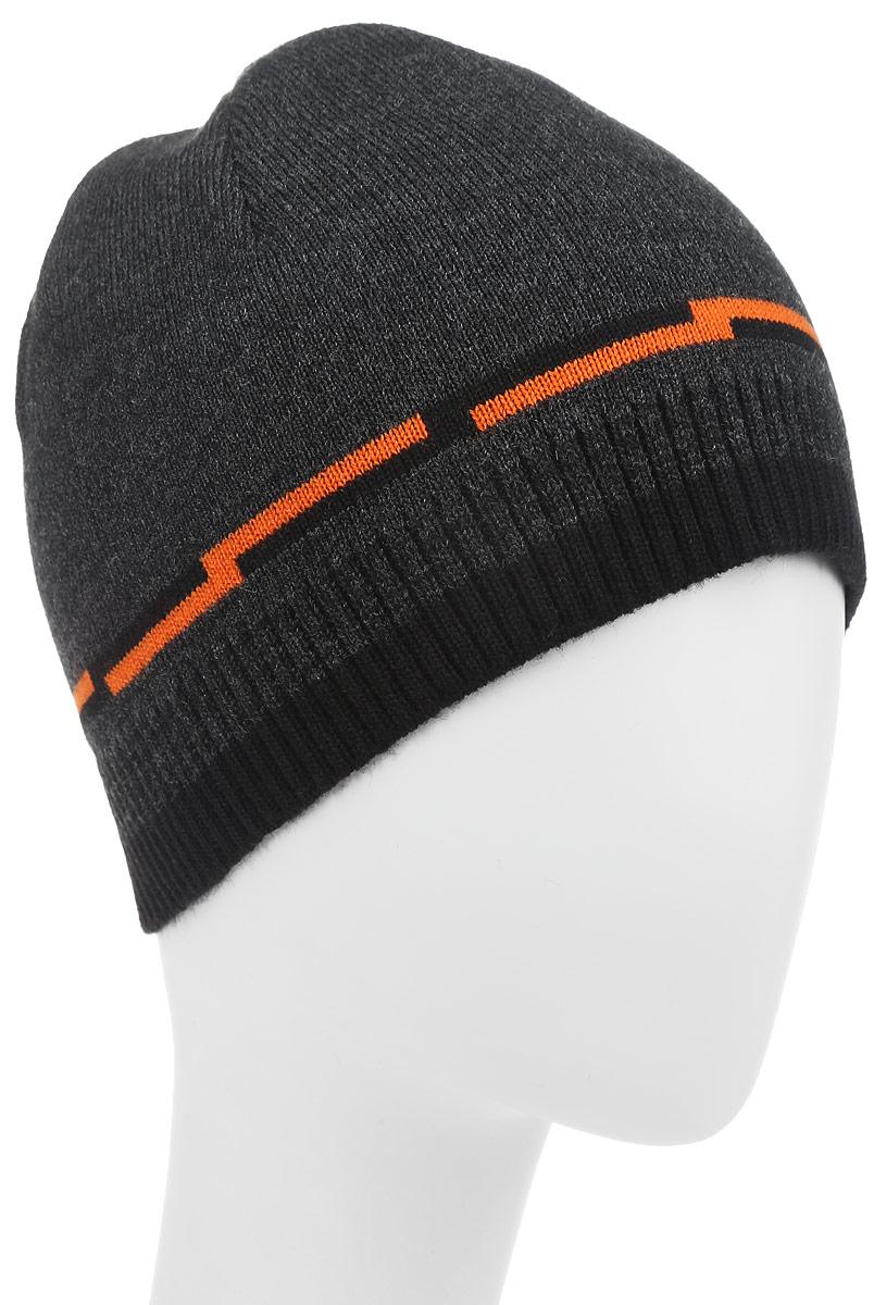 Шапка детскаяФутбол-22-1Стильная шапка для мальчика Concept идеально подойдет для прогулок в прохладное время года. Изготовленная из 100% пана, она обладает хорошими дышащими свойствами и хорошо удерживает тепло. Шапка декорирована небольшой текстильной нашивкой. Понизу проходит вязаная резинка. Уважаемые клиенты! Размер, доступный для заказа, является обхватом головы ребенка.