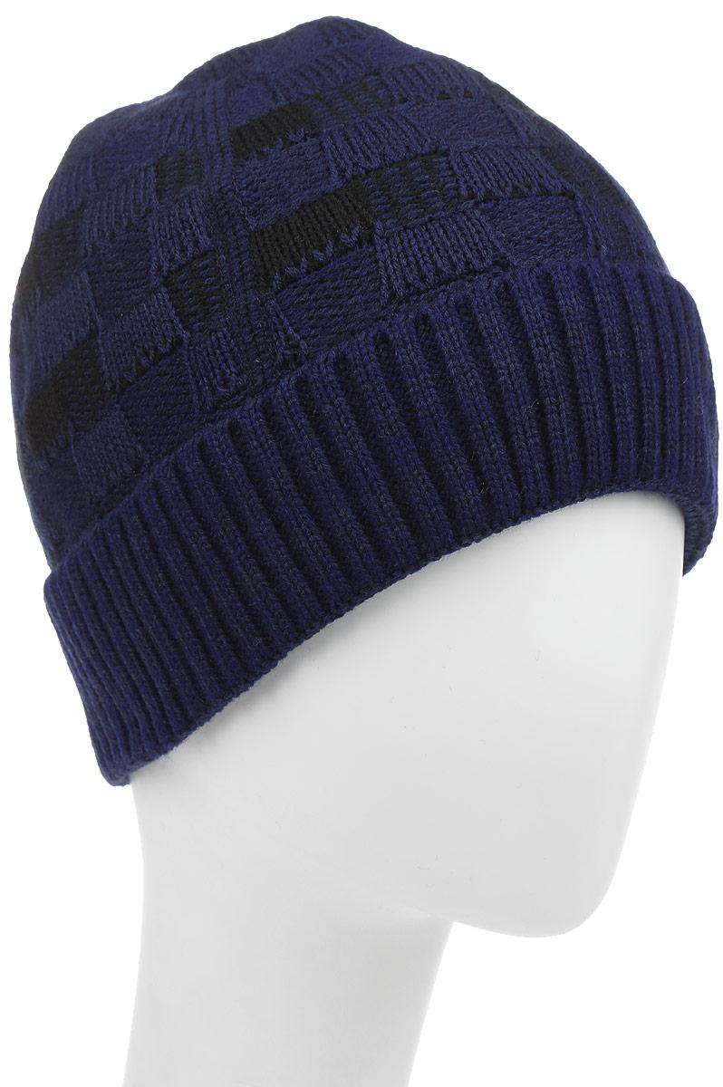 Армия-22-1Стильная шапка для мальчика Concept идеально подойдет для прогулок в прохладное время года. Изготовленная из шерсти и акрила, она обладает хорошими дышащими свойствами и хорошо удерживает тепло. Шапка декорирована небольшой текстильной нашивкой и дополнена отворотом. Уважаемые клиенты! Размер, доступный для заказа, является обхватом головы ребенка.