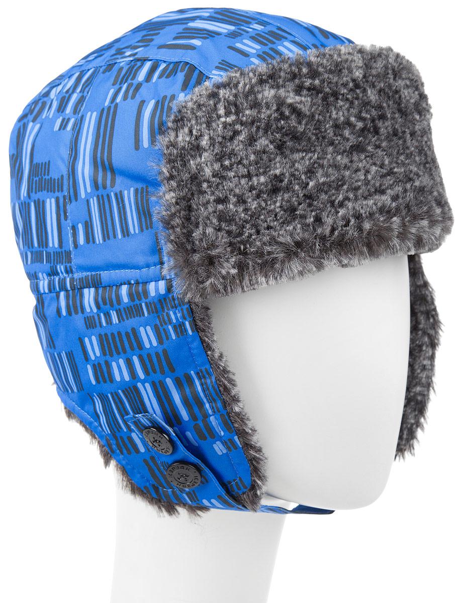 Шапка детская652803503IVУдобная и теплая шапка-ушанка Icepeak для мальчика, выполненная из полиэстера, дополнена мягкой флисовой подкладкой и отделкой из искусственного меха. Модель застегивается с помощью хлястика с кнопками. Шапка-ушанка оформлена контрастным принтом. Уважаемые клиенты! Размер, доступный для заказа, является обхватом головы.