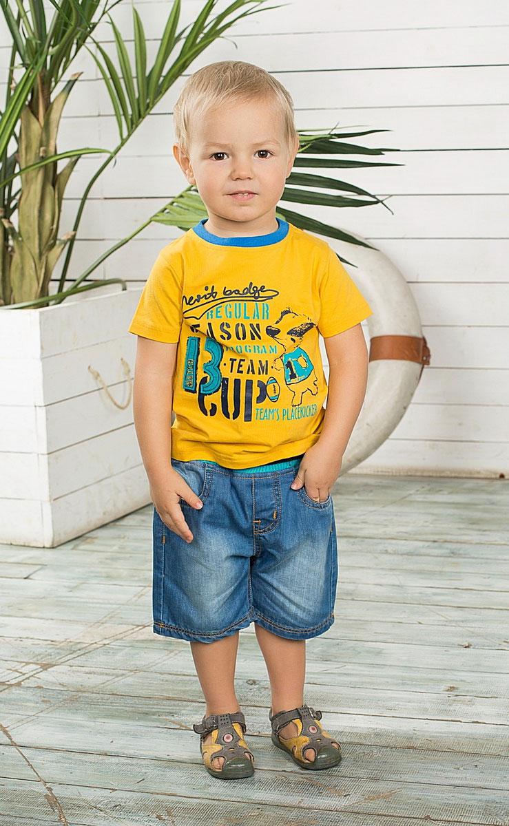Шорты196124Джинсовые шорты на резинке с регулировкой шнурком по поясу Джинсовые шорты для мальчика Sweet Berry Baby идеально подойдут маленькому моднику и станут отличным дополнением к детскому гардеробу. Шорты выполнены из натурального хлопка, не сковывают движения и позволяют коже дышать, обеспечивая наибольший комфорт. Шорты на широкой эластичной резинке с регулировкой шнурком по поясу. Спереди расположены два втачных кармана, сзади - два накладных кармана. Оформлено изделие контрастной отстрочкой. В таких стильных шортах ваш маленький мужчина будет чувствовать себя комфортно и всегда будет в центре внимания!