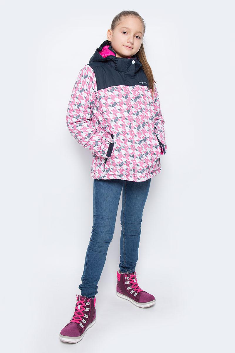 650028502IVКуртка для девочки Icepeak Helga Jr выполнена из прочного текстиля с водонепроницаемой и воздухопроницаемой мембраной Icemax 5000/2000 г/м2 /24 ч, которая защищает от ветра и влаги даже в экстремальных условиях. Модель с капюшоном и воротником стойкой застегивается на молнию с защитой подбородка и дополнена ветрозащитным клапаном на липучках. Капюшон пристегивается при помощи кнопок. Манжеты рукавов регулируются по ширине за счет хлястиков с липучками. Спереди модель дополнена двумя прорезными карманами на застежках-молниях, на рукаве имеется скрытый карман на молнии, с внутренней стороны расположен один накладной карман. Куртка оснащена светоотражающими элементами. Водонепроницаемая мембрана 5000 mm.