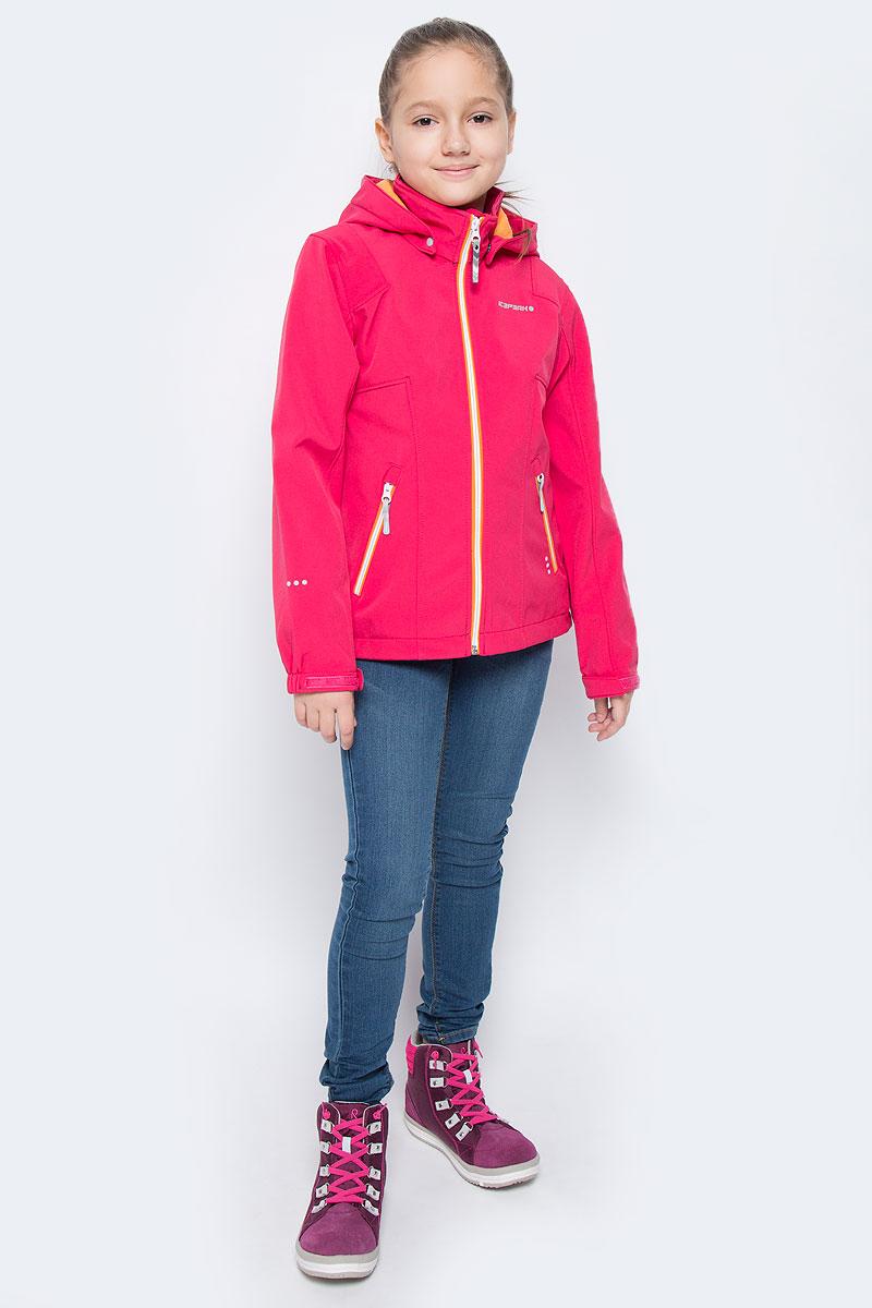 Куртка651816682IVКуртка для девочки Icepeak Reina выполнена из водоотталкивающей ткани на флисовой подкладке. Модель с капюшоном и воротником стойкой застегивается на молнию и дополнена двумя прорезными карманами на молниях. Манжеты рукавов дополнены эластичными резинками и хлястиками на липучках. Капюшон пристегивается при помощи кнопок. Куртка оснащена светоотражающими элементами. Водонепроницаемая мембрана 3000 mm.