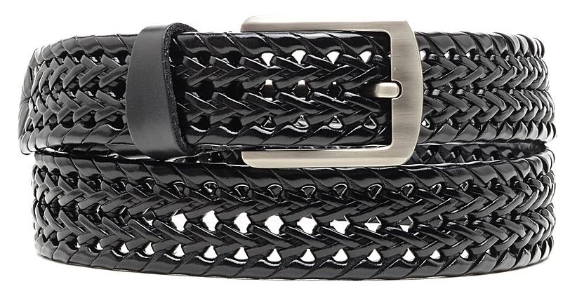 РеменьPGW395Вязанный кожаный ремень торговой марки Malgrado. Пряжка металлическая, матовая, цвет белый хром. Пряжка на винте, при необходимости самостоятельно переставляется на требуемую длину.