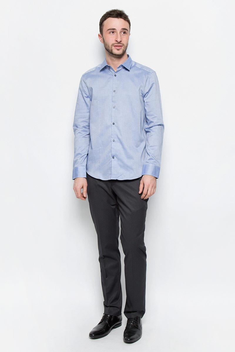 MX3024537_MN_SHG_008Стильная мужская рубашка Mexx изготовлена из хлопка. Рубашка с отложным воротником и длинными рукавами застегивается на пуговицы по всей длине. На манжетах предусмотрены застежки-пуговицы.