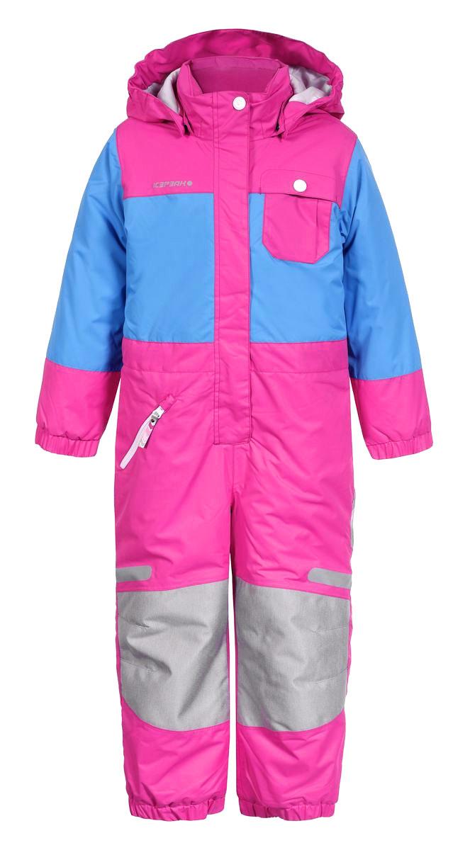 Комбинезон утепленный652152517IVКомбинезон для девочки Icepeak Janna выполнен из водонепроницаемой и ветрозащитной ткани (10000мм/2000г/m2/24ч). В качестве утеплителя используется 100% полиэстер. Внешние швы изделия проклеены. Комбинезон с капюшоном и воротником-стойкой застегивается на пластиковую молнию с защитой подбородка и ветрозащитной планкой на липучках. Капюшон пристегивается на кнопки. Для большего комфорта на воротнике используется мягкая и тактильно приятная подкладка. На рукавах и по низу брючин имеются эластичные манжеты. При желании комбинезон можно регулировать на талии с помощью эластичной тесьмы с пуговицами, чтобы он плотнее прилегал к фигуре. Спереди расположен один прорезной карман на застежке-молнии, и один нагрудный кармашек с клапаном на кнопке. Светоотражающие элементы не оставят вашего ребенка незамеченным в темное время суток. Температурный режим от 0°С до -20°С. Водонепроницаемая мембрана 10000 mm.