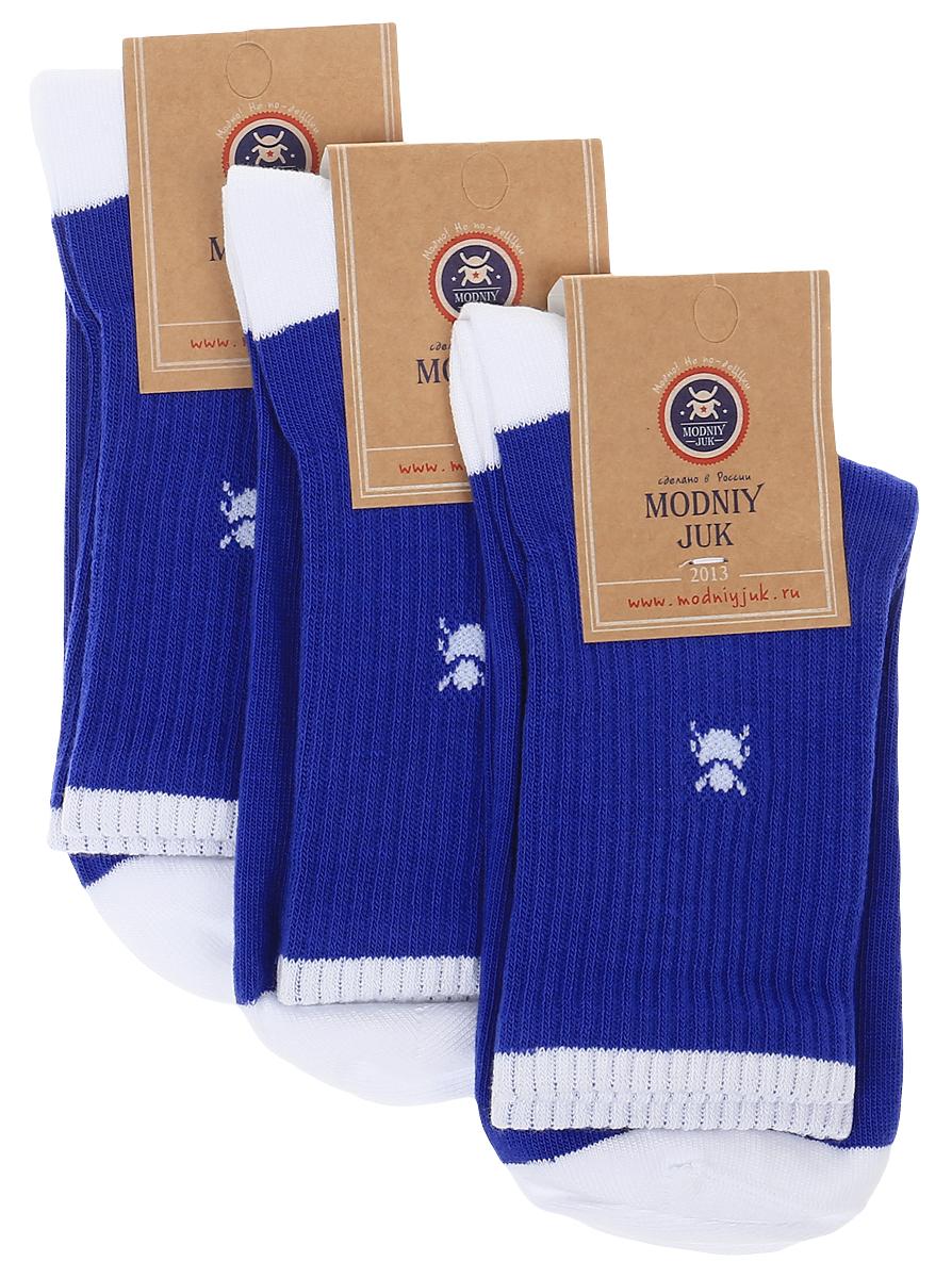 Socks 7/SportНоски для мальчика Modniy Juk, изготовленные из высококачественного материала, идеально подойдут маленькому непоседе. Мягкая и широкая резинка плотно облегает ножку, не сдавливая ее, благодаря чему ребенку будет комфортно и удобно. Усиленные пятка и мысок обеспечивают надежность и долговечность. Носочки оформлены принтом с изображением жучка и надписями. В комплекте 3 пары носков.