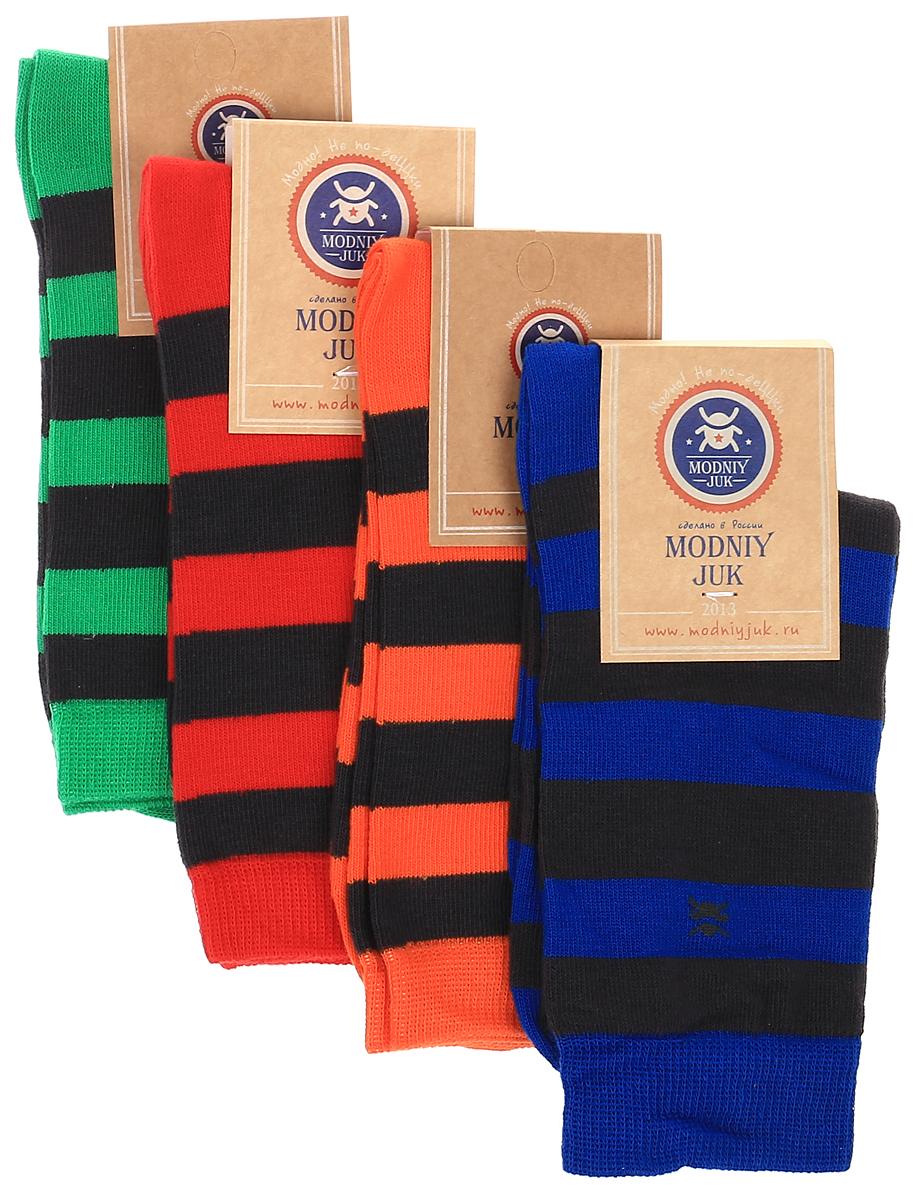 Socks 3/Bands_&_Logo/Носки для мальчика Modniy Juk Bands & Logo, изготовленные из высококачественного материала, идеально подойдут маленькому непоседе. Мягкая и широкая резинка плотно облегает ножку, не сдавливая ее, благодаря чему ребенку будет комфортно и удобно. Усиленные пятка и мысок обеспечивают надежность и долговечность. В комплект входят четыре пары носочков, которые оформлены принтом в яркую полоску.