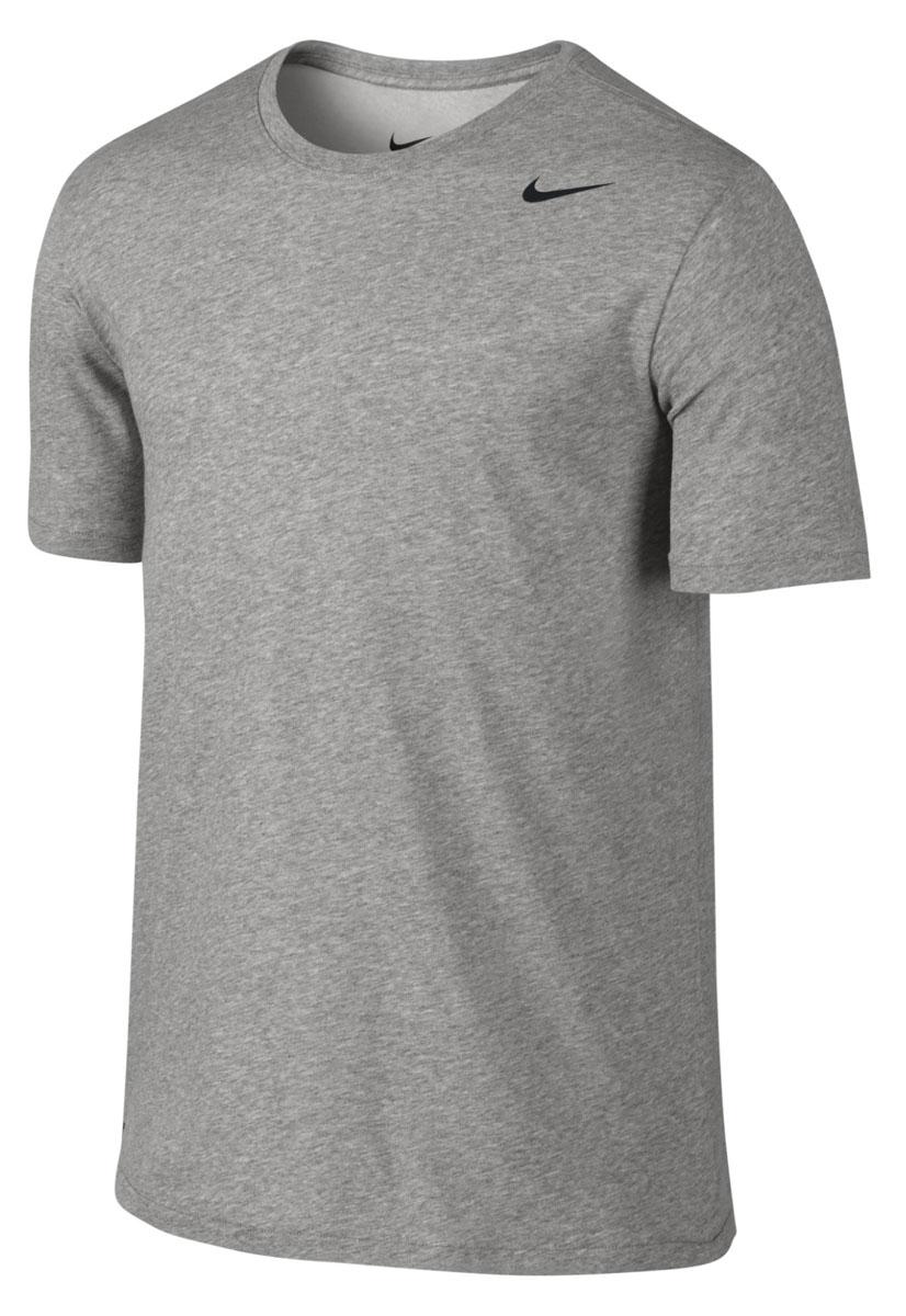 706625-063Футболка Nike выполнена из мягкого хлопкового материала черного цвета. Ткань с технологией Dri-FIT отводит влагу, сохраняя кожу сухой. Технология Stay Cool контролирует оптимальную температуру тела. Детали: прямой крой, круглый вырез, короткие рукава.