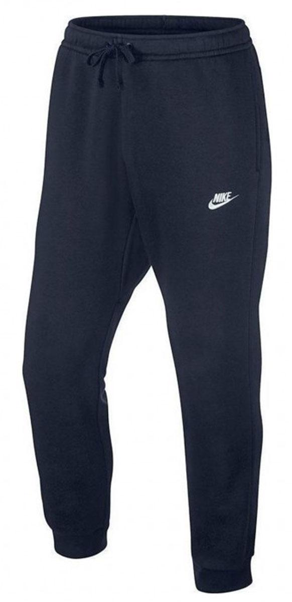 Брюки спортивные804408-010Брюки Nike NSW Jogger FLC Club из толстовочного трикотажа. Мягкий ворс изнутри, эластичные пояс и манжеты, шнуровка, два боковых кармана без застежки, задний карман на липучке.