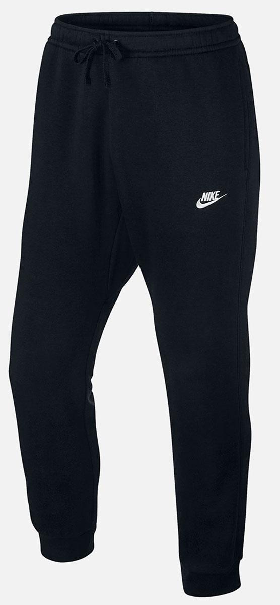 804408-010Брюки Nike NSW Jogger FLC Club из толстовочного трикотажа. Мягкий ворс изнутри, эластичные пояс и манжеты, шнуровка, два боковых кармана без застежки, задний карман на липучке.