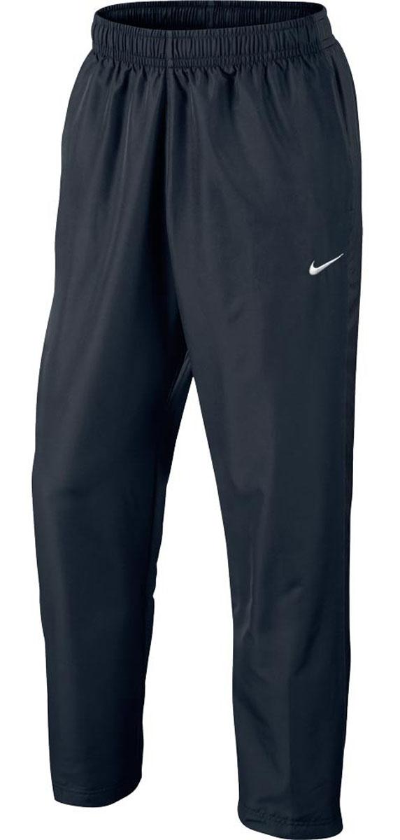 644835-011Брюки Nike Season Swoosh, шьются из ткани Polyfabric, котораяимеет немного рельефную структуру, что в сочетании с открытой кромкой, создает спортивный элегантный образ и обеспечивает комфорт.