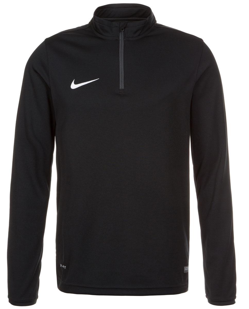Лонгслив747443-010Куртка Nike Academy Midlayer из трикотажа с мягким внутренним слоем. Технология Dri-Fit эффективно отводит влагу и оставляет кожу сухой. Круглый вырез, застежка на молнию, вышивка спереди.