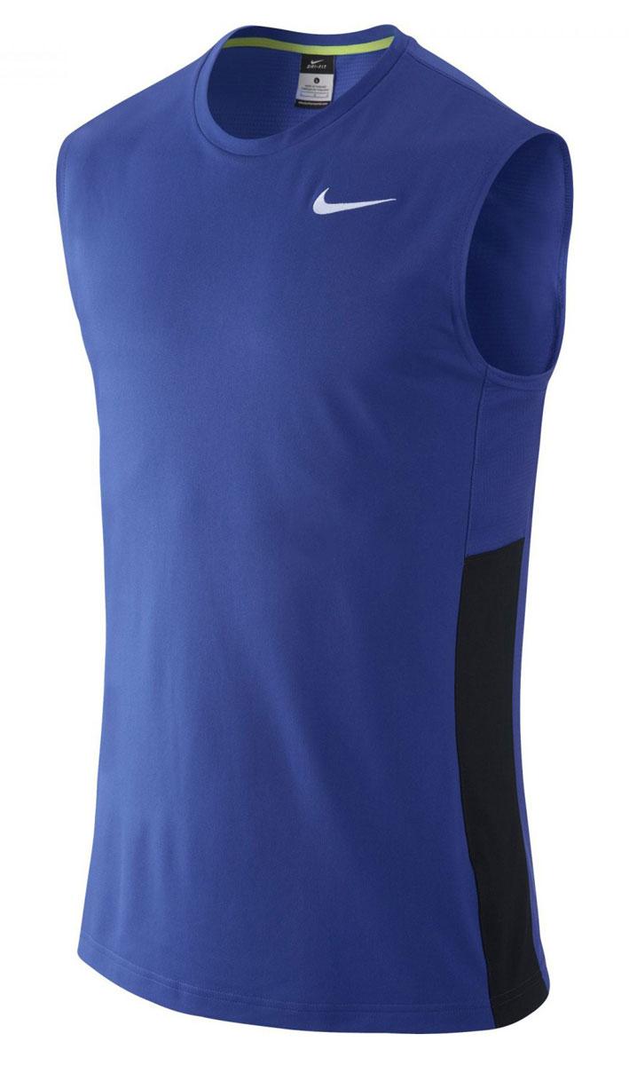 641419-480Майка Nike Crossover Sleeveless из влагоотводящей ткани Nike Dri-FIT, гарантирующей вентиляцию и комфорт. Сетчатые вставки из материала Dri-FIT усиливают вентиляцию, облегающий крой, круглый вырез.