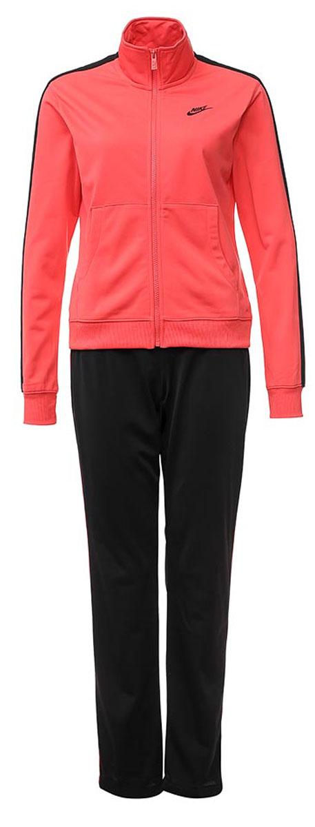 Спортивный костюм830345-850Спортивный костюм Nike W Nsw Trk Suit Pk Oh выполнен из плотного трикотажа. Толстовка прямого кроя, с застежкой на молнию, двумя карманами, брюки прямого кроя, с эластичным поясом на кулиске.