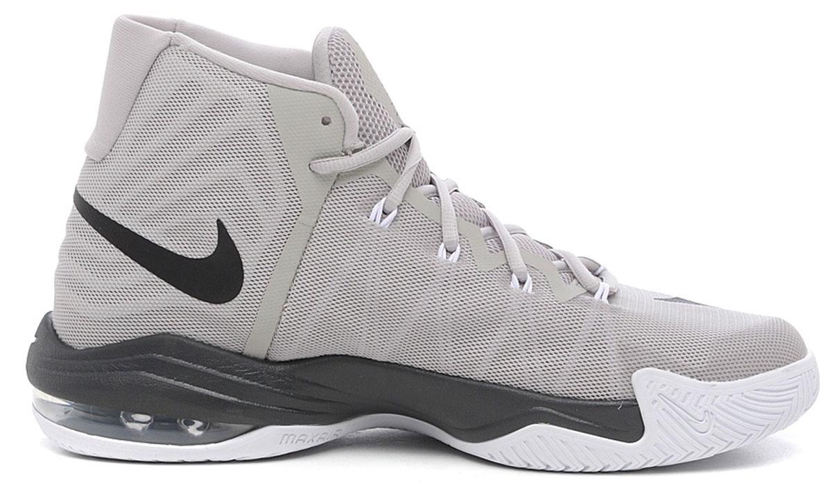 Кроссовки843884-003Мужские баскетбольные кроссовки Air Max Audacity 2016 от Nike обеспечивают воздухопроницаемость благодаря верху из легкого сетчатого материала с бесшовными накладками. Нити Flywire в составе верха гарантируют надежную фиксацию стопы. Подкладка и стелька из текстиля комфортны при движении. Шнуровка надежно зафиксирует модель на ноге. Вставка Max Air в области пятки для максимальной защиты от ударных нагрузок. Полноразмерная подошва из материала Phylon обеспечивает амортизацию и стабилизацию без утяжеления. Подметка из твердой резины с модифицированным зигзагообразным рисунком обеспечивает прочность и сцепление при движении в любом направлении.