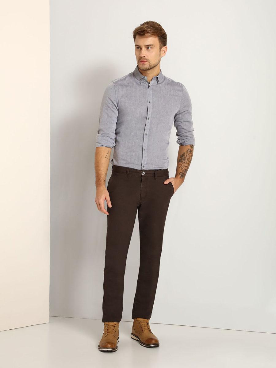 РубашкаSKL2114SZМужская рубашка Top Secret выполнена из натурального хлопка. Модель с отложным воротником и длинными рукавами застегивается на пуговицы по всей длине. Низ рукавов дополнен манжетами на пуговицах.