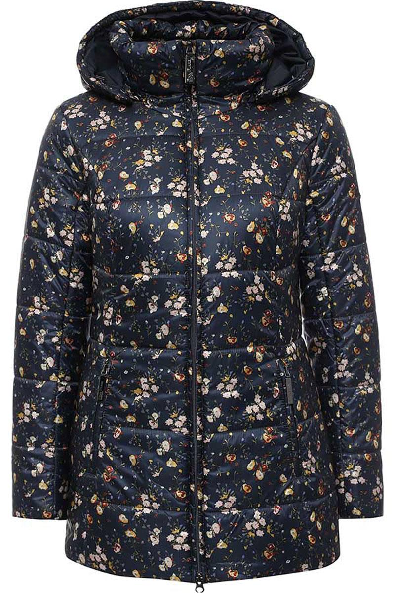 W16-11018_101Стильная женская куртка Finn Flare изготовлена из высококачественного полиэстера и оформлена цветочным принтом. В качестве утеплителя используется полиэстер. Модель с воротником-стойкой и съемным капюшоном застегивается на застежку-молнию. Капюшон, дополненный регулирующим эластичным шнурком, пристегивается к куртке с помощью кнопок. Спереди расположены два прорезных кармана на застежках-молниях. Манжеты рукавов и воротник присборены на резинки.