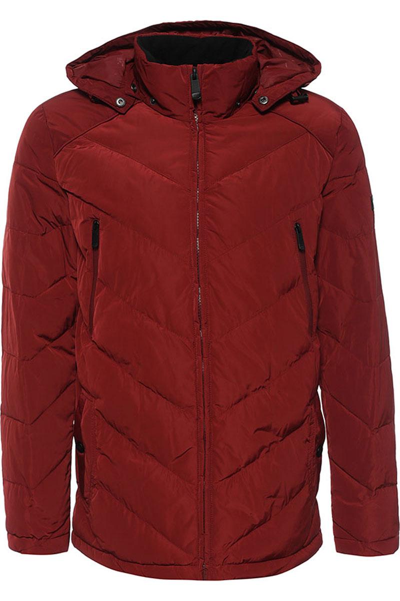 КурткаW16-22012_303Стильная мужская куртка Finn Flare изготовлена из высококачественного полиэстера. В качестве утеплителя используется полиэстер. Куртка с воротником-стойкой и съемным капюшоном застегивается на застежку-молнию. Капюшон, дополненный регулирующим эластичным шнурком, пристегивается к куртке с помощью кнопок. Спереди расположены два прорезных кармана на кнопках, на груди - два прорезных кармана на застежках-молниях, с внутренней стороны - прорезной карман на застежке-молнии, накладной карман на пуговице и накладной карман на липучке. Манжеты рукавов дополнены трикотажными напульсниками. Нижняя часть модели регулируется с помощью эластичного шнурка со стопперами.
