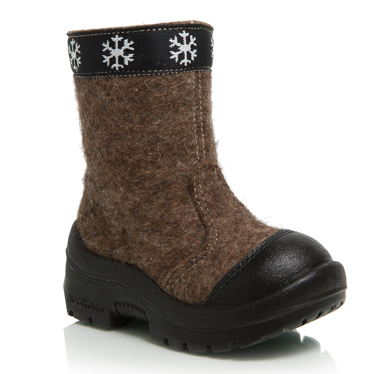 114010-02Валенки Nordman выполнены из качественного войлока. Носок дополнительно усилен вставкой из натуральной кожи. Модель оформлена декоративной брендовой нашивкой. На ноге модель фиксируется с помощью удобной застежки-молнии. Внутренняя поверхность выполнена из натуральной шерсти, которая обеспечит тепло и комфорт. Съемная стелька также выполнена из натуральной шерсти. Подошва изготовлена из полиуретана и дополнена протектором, который обеспечит отличное сцепление с любой поверхностью.