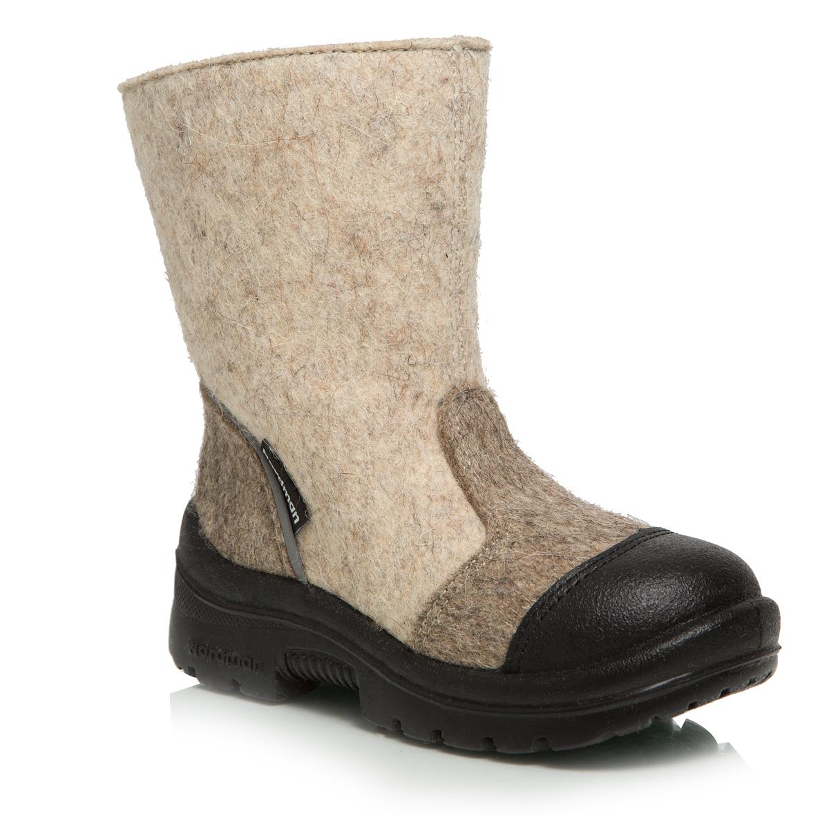 214002-03Валенки Nordman выполнены из качественного войлока. Модель дополнена светоотражающим элементом. Носок дополнительно усилен вставкой из натуральной кожи. На ноге модель фиксируется с помощью удобной застежки-молнии. Внутренняя поверхность выполнена из натуральной шерсти, которая обеспечит тепло и комфорт. Съемная стелька также выполнена из натуральной шерсти. Подошва изготовлена из полиуретана и дополнена протектором, который обеспечит отличное сцепление с любой поверхностью.